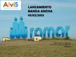 LANZAMIENTO BANDA ANCHA 01/02/2013