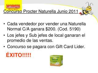 Concurso Procter Naturella Junio 2011