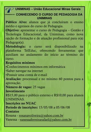 UNIMINAS – União Educacional Minas Gerais
