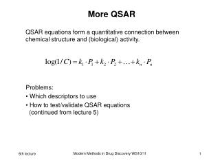 More QSAR