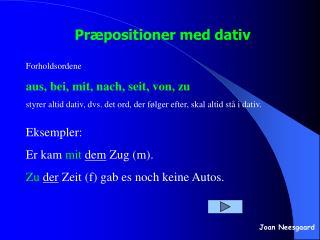 Pr positioner med dativ