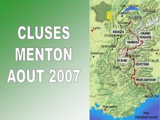 CLUSES MENTON AOUT 2007