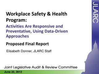 Workplace Safety & Health Program: