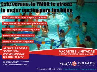 Este verano, la YMCA te ofrece la mejor opción para tus hijos