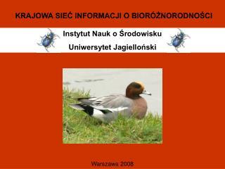 Instytut Nauk o Środowisku Uniwersytet Jagielloński