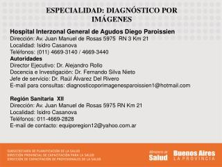ESPECIALIDAD: DIAGNÓSTICO POR IMÁGENES