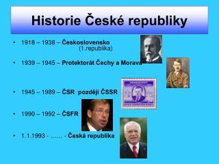 Historie České republiky