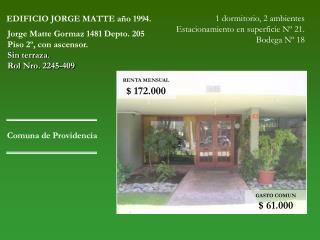 EDIFICIO JORGE MATTE año 1994.