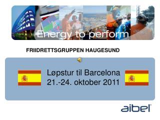 Løpstur til Barcelona 21.-24. oktober 2011