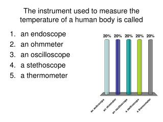 The instrument used to measure the temperature of a human body is called