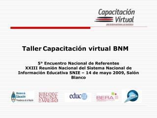Taller Capacitación virtual BNM