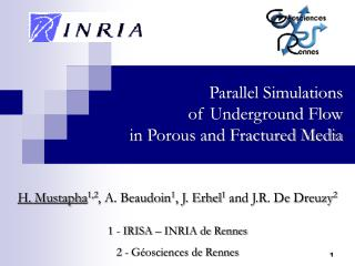 Parallel Simulations  of Underground Flow  in Porous and Fractured Media