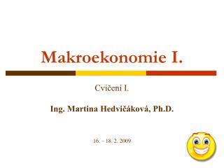 Makroekonomie I.