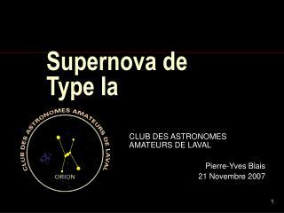 Supernova de Type Ia