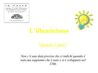 L�illuminismo