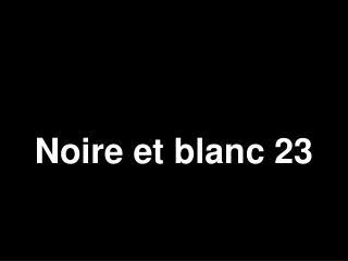 Noire et blanc 23