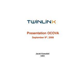 Presentation OCOVA  September 9th, 2008