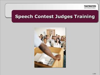 Speech Contest Judges Training