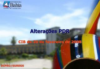 Alterações PDR