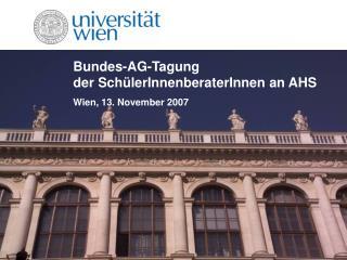 Bundes-AG-Tagung der SchülerInnenberaterInnen an AHS