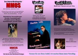 mit Tanzmusik, Oldies, Rock, Pop, Polka,