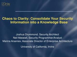 Chaos to Clarity: Consolidate Your Security Information into a Knowledge Base