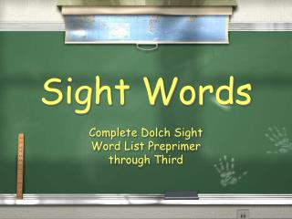 Dolch Words powerpoint