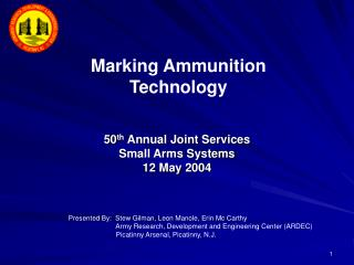 50th Annual Joint Services Small Arms Systems 12 May 2004