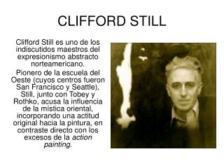 CLIFFORD STILL