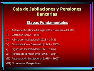 Caja de Jubilaciones y Pensiones Bancarias