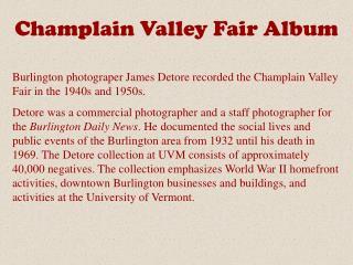 Champlain Valley Fair Album