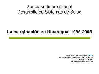 3er curso Internacional Desarrollo de Sistemas de Salud