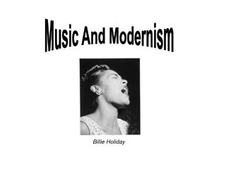 Music And Modernism