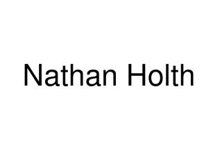 Nathan Holth