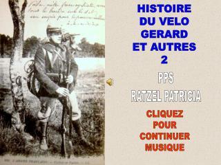 HISTOIRE DU VELO GERARD ET AUTRES 2