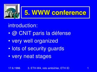 5. WWW conference