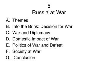 5 Russia at War