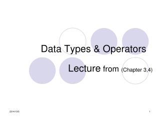 Data Types & Operators