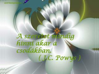 A szeretet mindig hinni akar a csodákban.            ( J.C. Powys )