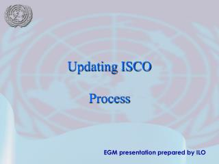 EGM presentation prepared by ILO