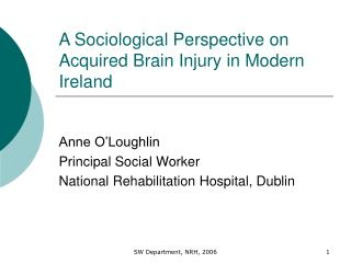 A Sociological Perspective on Acquired Brain Injury in Modern Ireland