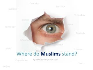 Where do  Muslims  stand?