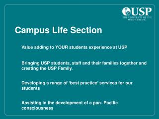 Campus Life Section