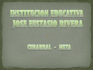INSTITUCION EDUCATIVA  JOSE EUSTASIO RIVERA