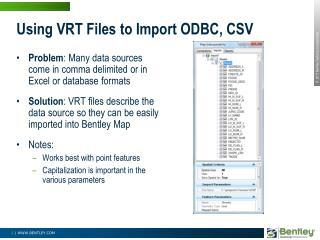 Using VRT Files to Import ODBC, CSV