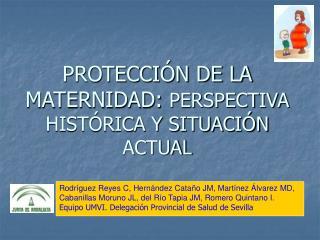 PROTECCIÓN DE LA MATERNIDAD:  PERSPECTIVA HISTÓRICA Y SITUACIÓN ACTUAL