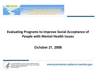 Evaluating Programs to Improve Social Acceptance of People with Mental Health Issues