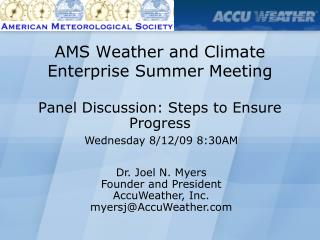 AMS Weather and Climate Enterprise Summer Meeting
