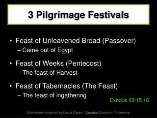 3 Pilgrimage Festivals
