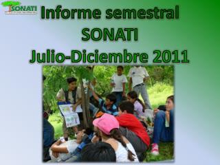 Informe semestral  SONATI Julio-Diciembre 2011